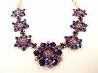 Pretty Petals Beadwork Necklace Jewellery Making Kit with SWAROVSKI® ELEMENTS Purple & Pink Tones